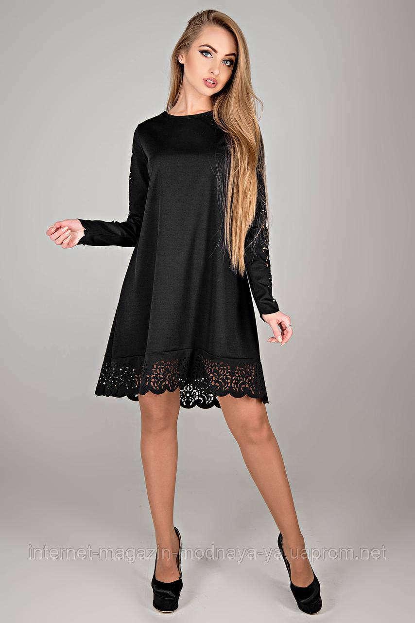 """Красивое платье """"Эрин"""" р. 44-52 черный"""