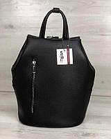 Черный рюкзак-трансформер 44904 сумка на одно плечо