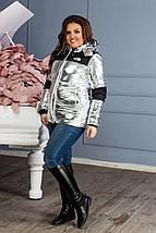 """Женская демисезонная куртка на синтепоне """"TNF"""" с капюшоном (большие размеры), фото 3"""