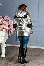 """Женская демисезонная куртка на синтепоне """"TNF"""" с капюшоном (большие размеры), фото 2"""