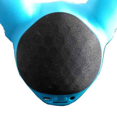 Колонка портативная беспроводная Bluetooth  «CoolDog Французский Бульдог» - ГОЛУБАЯ + ПОДАРОК: Настенный, фото 2