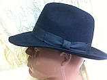 Мужская  шляпа из фетра с лентой цвета под заказ , фото 5