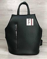Зеленый рюкзак трансформер 44908 сумка женская на одно плечо, фото 1