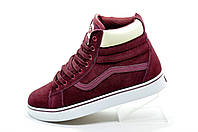 Кеды на меху в стиле Vans Old Skool Winter, Бордо