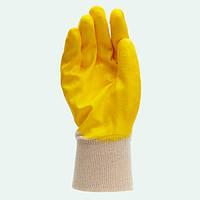 4523 Рукавичка трикотажна з нiтриловим покриттям, облив. жовт.