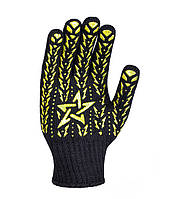 562 Рукавичка чорна з жовтою зiркою ПВХ