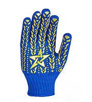 587 Рукавичка синя з жовтою зiркою ПВХ