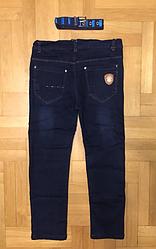 Джинсовые брюки на флисе для мальчиков, Венгрия, CQ, 134  рр., Арт. 7117