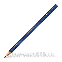 Карандаш чернографитный Faber-Castell Grip Sparkle темно-синий корпус, 118264