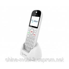 Телефон Sigma Comfort 50 Senior White, кредл в комплекті