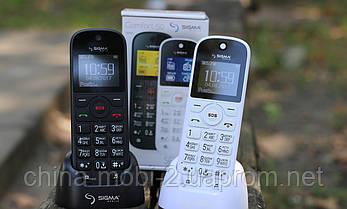 Телефон Sigma Comfort 50 Senior White, кредл в комплекті, фото 3