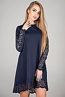 "Красивое платье ""Эрин"" р. 44-52 темно-синий, фото 1"
