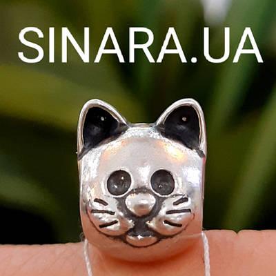 Шарм Пандора Pandora Цікавий Кіт Кошеня Срібло 925