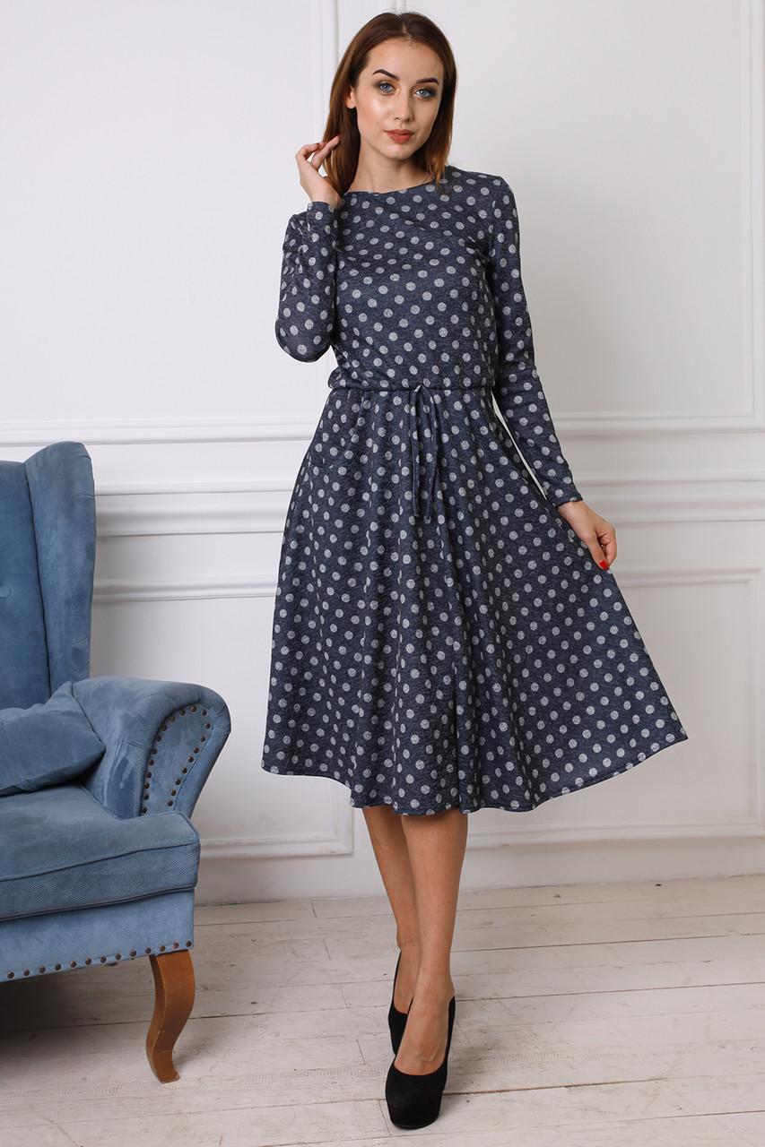 150625a9f40 Элегантное платье из ангоры длина миди и юбка солнце-клеш -  Оптово-розничный магазин