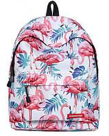 Рюкзак с фламинго школьный большой