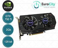 Видеокарта ASUS GeForce GTX 750 Ti OC 2048MB GDDR5 (128bit) (1085/5400) (VGA, DVI, HDMI) OEM (New)