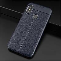 Чехол для Xiaomi Mi A2 / Mi 6X силикон Original Auto Focus Soft Touch темно-синий