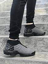 Мужские кроссовки Nike серые с черным топ реплика, фото 3