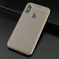 Чехол для Xiaomi Mi A2 / Mi 6X силикон Original Auto Focus Soft Touch серый