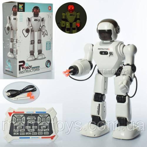 Робот 803 на Радиоуправлении 39 см, аккумулятор, звук (англ), свет, ездит, программы, стреляет присосками