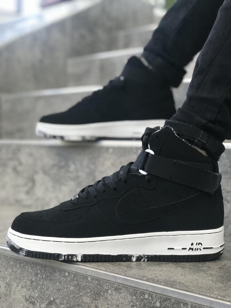 4017099f Мужские кроссовки Nike черные с белой подошвой топ реплика -  Интернет-магазин обуви и одежды