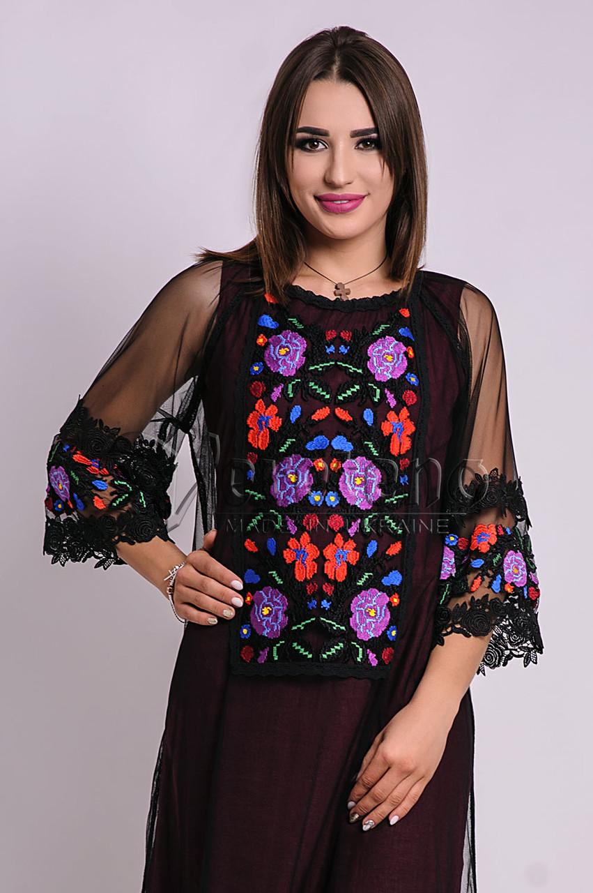 ... Вишита жіноча сукня на сітці eb03aecd9d159