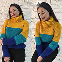 Вязанный свитер Попугай