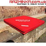 Мат гимнастический спортивный 100х100х10см, кожвинил (красный)