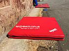 Мат гимнастический спортивный 100х100х10см, кожвинил (красный), фото 2