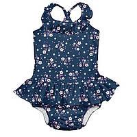 Купальник с подгузником I Play - Ruffle Swimsuit Navy Posies (712159-6305)