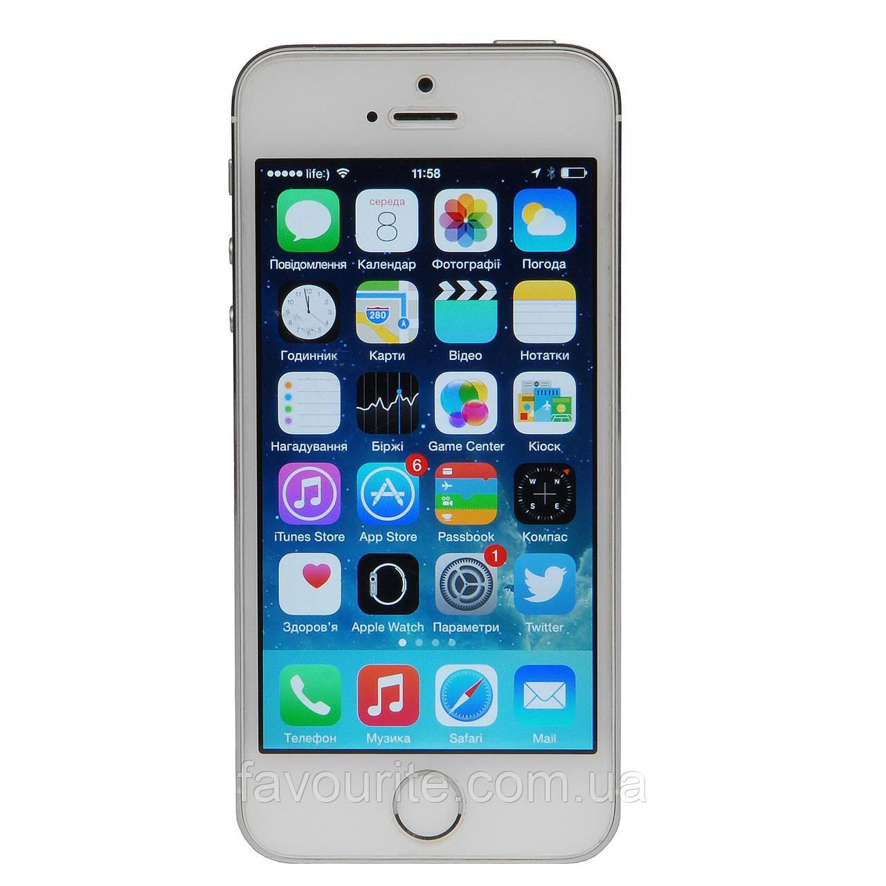 Apple iPhone 5S 32GB Silver Refurbished (hub_crIl30726)