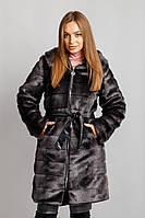 Шуба Норка №18 поперечная с утеплителем , фото 1