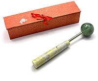 Массажер нефритовый шар на ручке