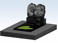 Памятник гранитный детский, ангел облако, 3d проект, детский памятник, надгробия из гранита в Симферополе и Крыму