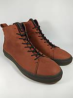 Ecco ботинки мужские зимние 43 Размер из натуральной кожи на меху рыжий 0b52d0f938fb5