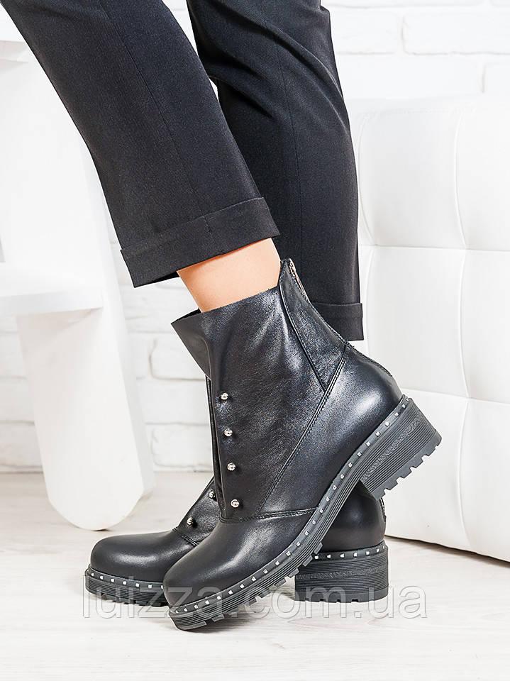 Ботинки Bru черная кожа