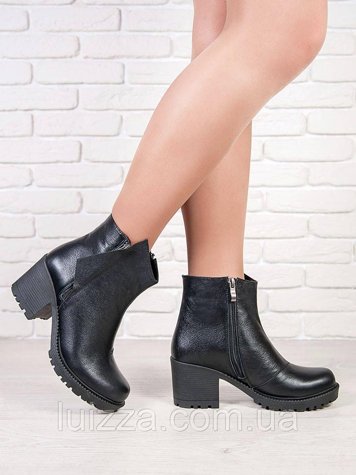Ботинки черная кожа 6709-28