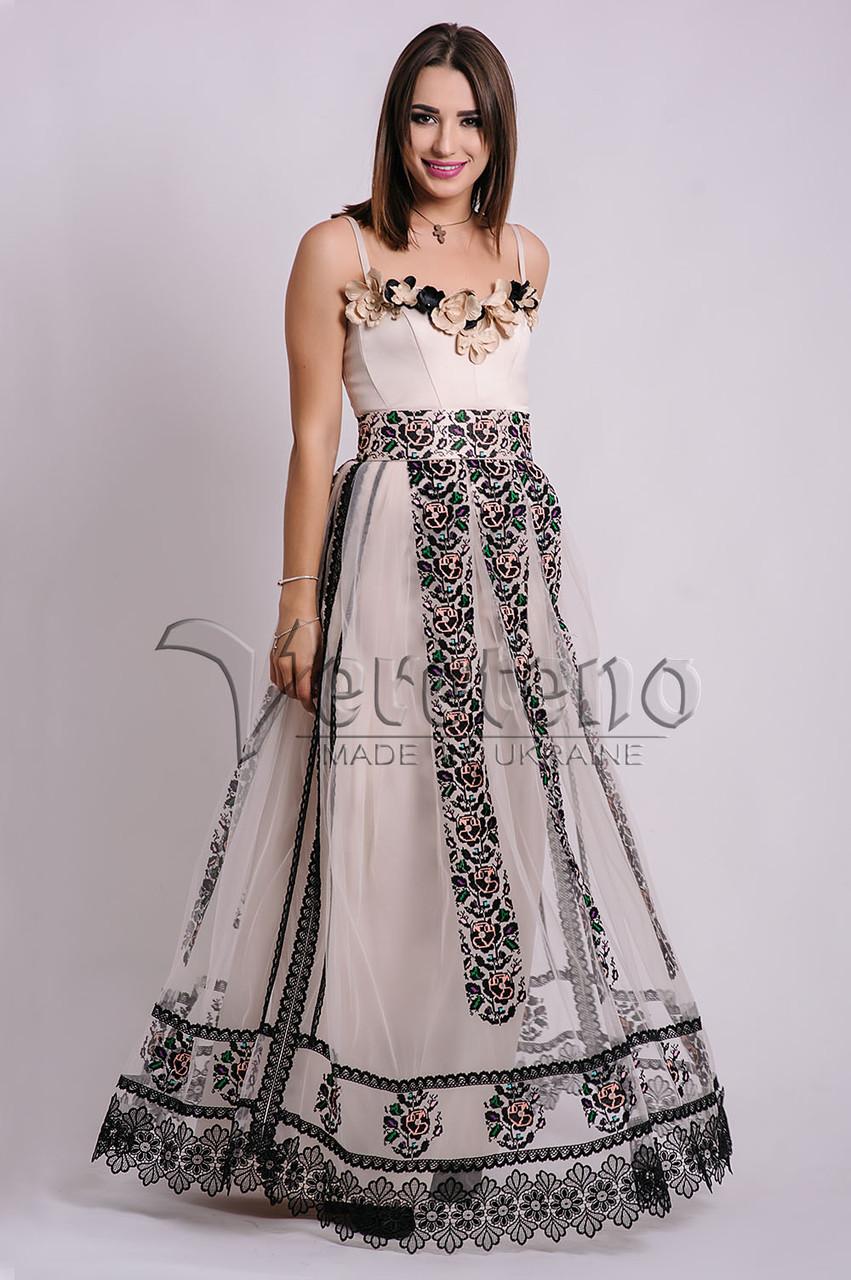 221125a1201ba3 Вишита вечірня весільна випускна сукня, Вишите довге жіноче плаття ...