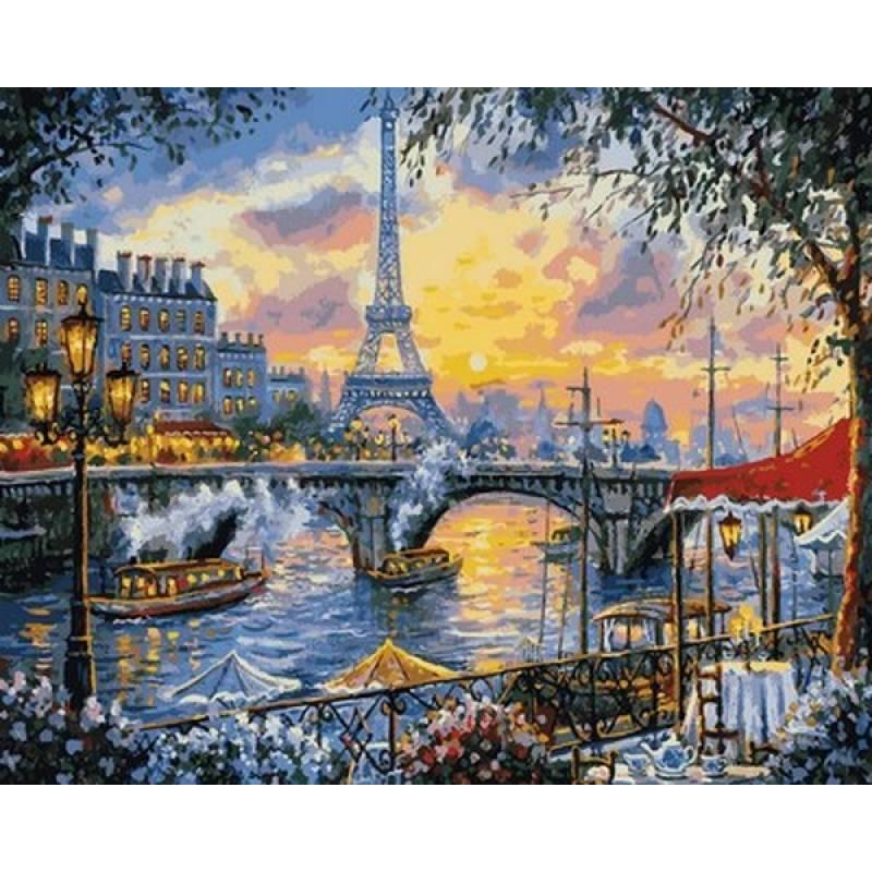 Картина по номерам Париж на закате VP1030 Babylon Turbo 40 х 50 см