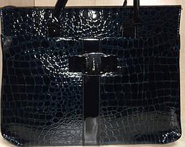 Сумка женская черная, синяя №816, фото 3