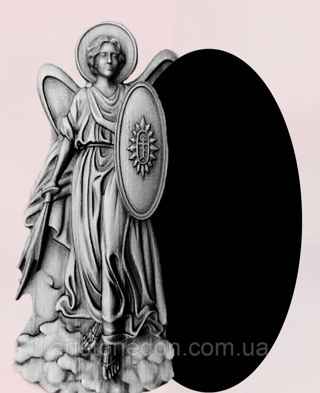 Памятник из гранита Архангел Михаил (Ангел №14)