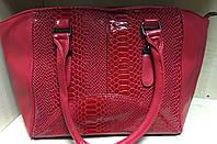 Сумка женская красная, черная №9523