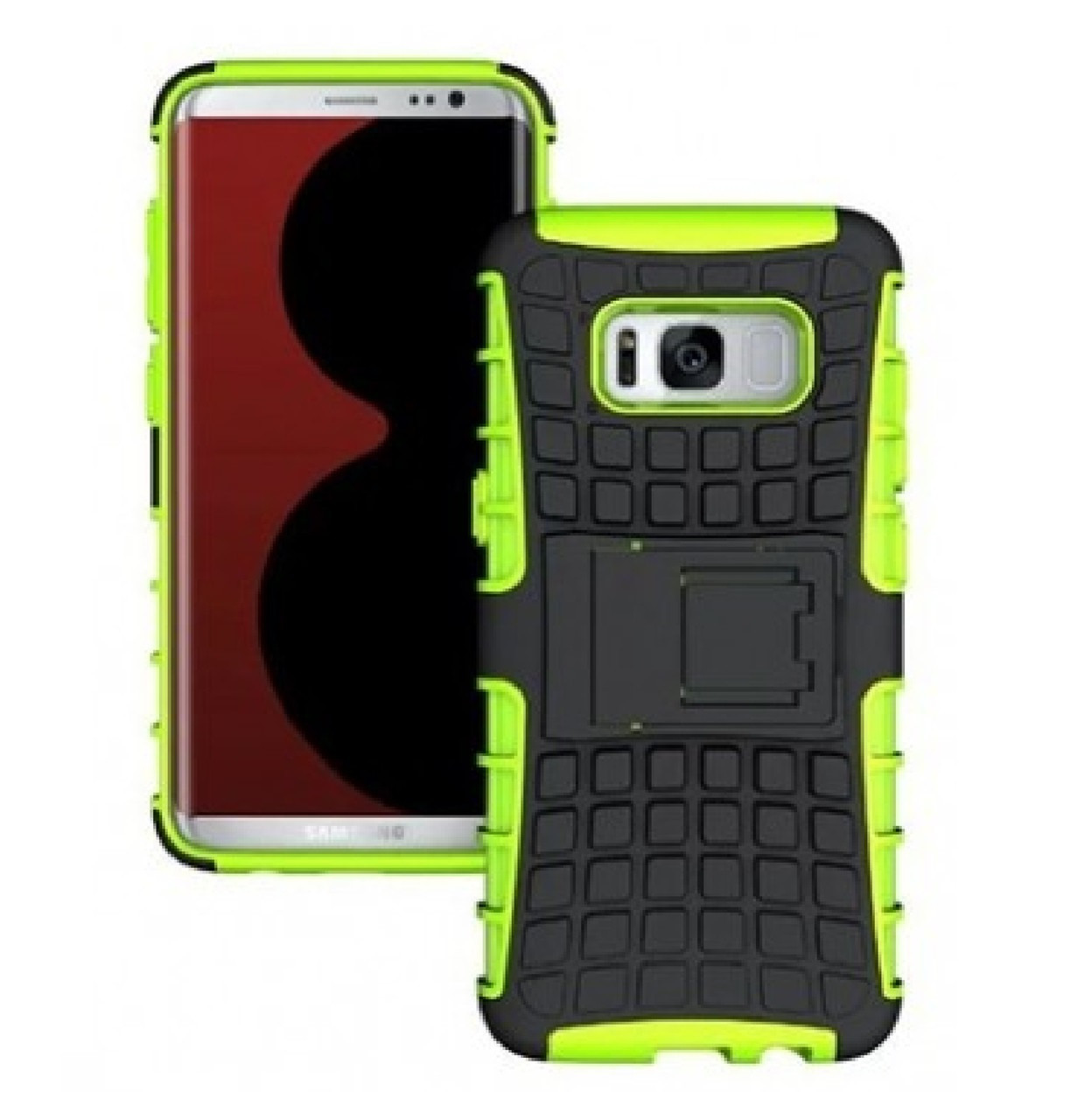 Противоударный двухслойный чехол Shield для Samsung Galaxy S8 SM-G950 Green