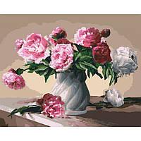 Картина по номерам Пионы в вазе