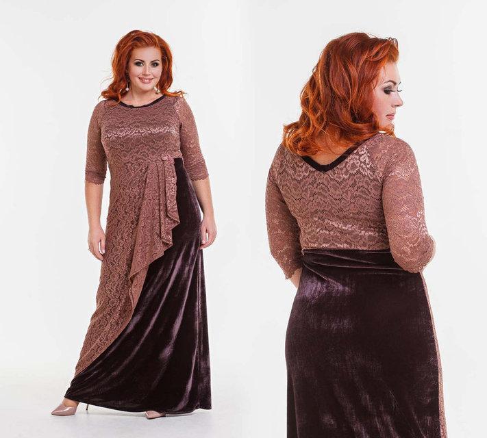 0256cd750d3f06e Элегантное вечернее длинное платье в больших размерах