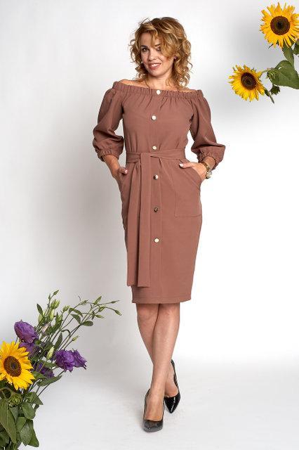 Платье 0362_5 бежевое