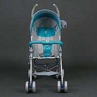 Детская Коляска прогулочная Joy голубая (108S-2)