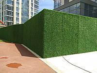 Зеленый забор, искусственное декоративное ограждениезданий