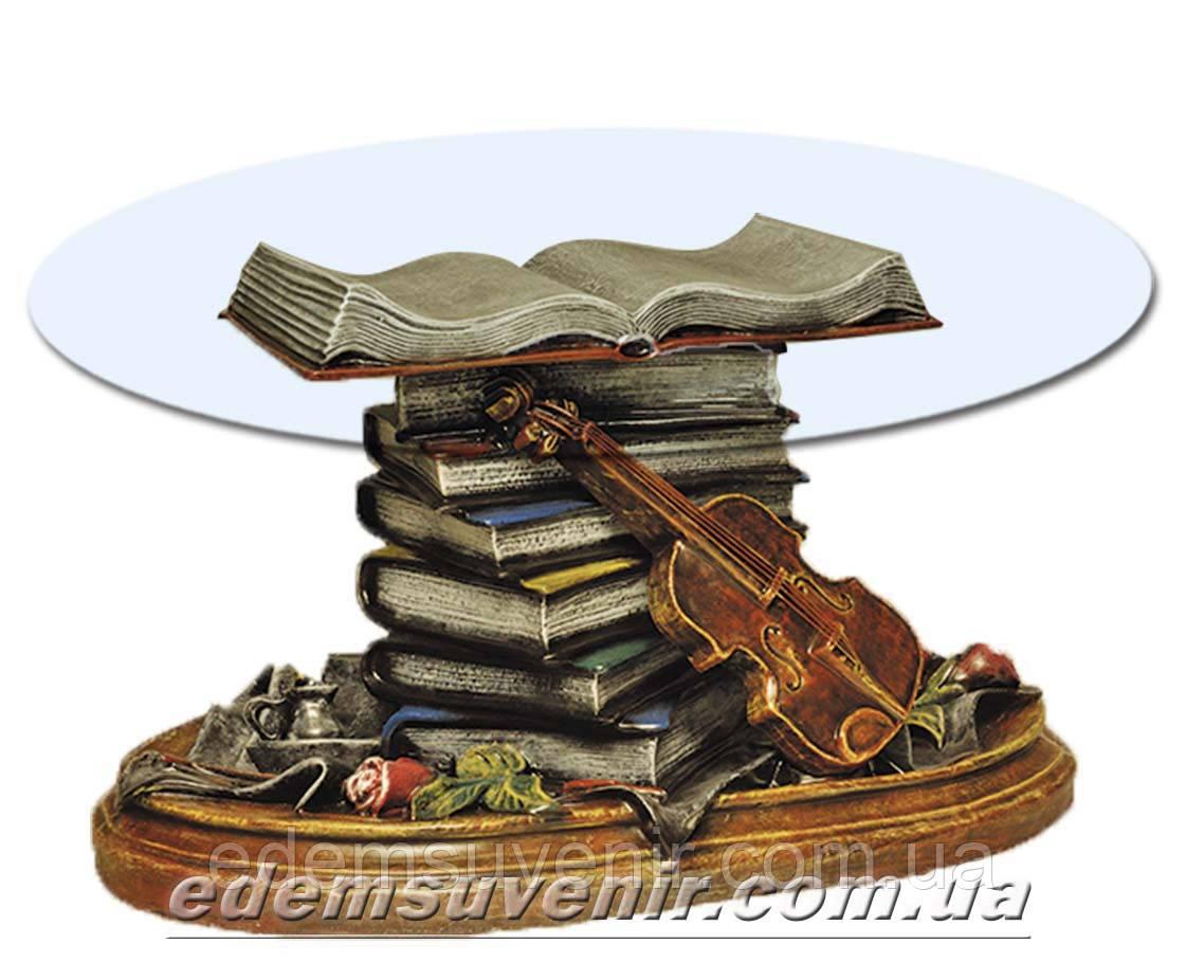 Стол журнальный Скрипка художественная покраска