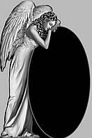 Памятник со скорбящим ангелом №15